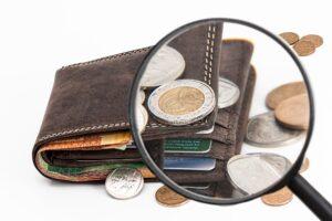 Blick in eine Geldbörse